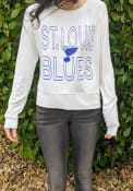 St Louis Blues Womens Colonnade Crew Sweatshirt - White