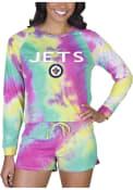 Winnipeg Jets Womens Tie Dye Long Sleeve PJ Set - Yellow