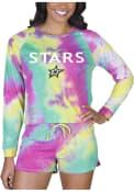 Dallas Stars Womens Tie Dye Long Sleeve PJ Set - Yellow