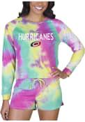 Carolina Hurricanes Womens Tie Dye Long Sleeve PJ Set - Yellow
