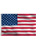 3x5 Grommet Red Silk Screen Grommet Flag
