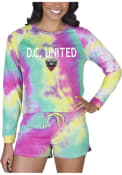 DC United Womens Tie Dye Long Sleeve PJ Set - Yellow