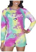 Toronto Blue Jays Womens Tie Dye Long Sleeve PJ Set - Yellow