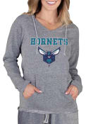 Charlotte Hornets Womens Mainstream Terry Hooded Sweatshirt - Grey