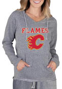 Calgary Flames Womens Mainstream Terry Hooded Sweatshirt - Grey