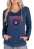 Washington Capitals Womens Mainstream Terry Hooded Sweatshirt - Navy Blue