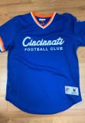 Mitchell and Ness FC Cincinnati Blue Special Script Fashion Jersey