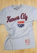 Mitchell and Ness Kansas City Kings Grey Kings City Wordmark Fashion Tee