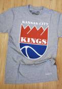 Kansas City Kings Mitchell and Ness Kings Badge Fashion T Shirt - Grey