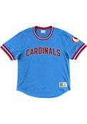 St Louis Cardinals Mitchell and Ness Wild Pitch Fashion T Shirt - Light Blue
