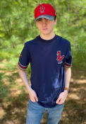 St Louis Cardinals Mitchell and Ness Final Seconds Fashion T Shirt - Navy Blue