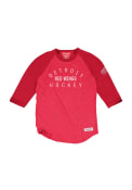 Mitchell and Ness Detroit Red Wings Red Team Issued Fashion Tee