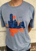 Detroit Skyline Fashion T Shirt - Grey