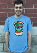 Chicago Light Blue Hot Dog Short Sleeve T Shirt