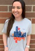 Detroit Grey Skyline Short Sleeve T Shirt