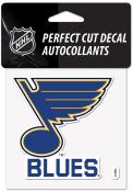 St Louis Blues 5x6 Team Name Auto Decal - Blue