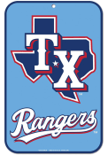 Texas Rangers Powder Blue Jersey 11x17 Parking Sign