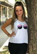 Dallas Women's Sunglasses Cropped Tank Top - White