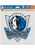 Dallas Mavericks 8x8 Color Auto Decal - Blue