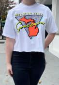 Michigan State Spartans Womens Retro Pastel T-Shirt - White