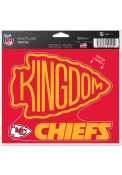 Kansas City Chiefs Kingdom 5x6 Multi Use Auto Decal - Red