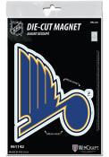 St Louis Blues 3x5 Die Cut Magnet