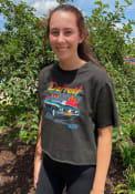 Detroit Women's Muscle Car Cropped Short Sleeve T-Shirt - Reactive Black