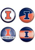 Illinois Fighting Illini 4pk Button