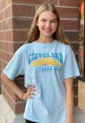 Cleveland Women's Powder Blue Lake Erie Sun Short Sleeve T-Shirt