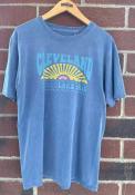 Cleveland Women's Pacific Blue Lake Erie Sun Short Sleeve T-Shirt