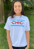 Chicago Women's Chic Flag White Short Sleeve T-Shirt