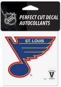 St Louis Blues Vintage 4x4 Auto Decal - Blue