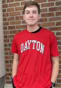 Dayton Flyers Arch Name With Sleeve Hit Fashion T Shirt - Red