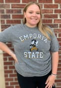Emporia State Hornets Rally Triblend Number One Vintage Distressed Fashion T Shirt - Grey