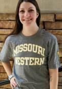 Missouri Western Griffons Rally Triblend Arch Name Arm Hit Fashion T Shirt - Grey