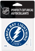 Tampa Bay Lightning 4x4 inch Auto Decal - Blue