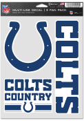 Indianapolis Colts Triple Pack Auto Decal - Blue