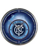 New York City FC Chrome Wall Clock
