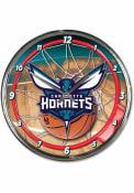 Charlotte Hornets Chrome Wall Clock