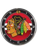 Chicago Blackhawks Chrome Wall Clock