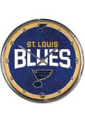 St Louis Blues Chrome Wall Clock