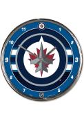 Winnipeg Jets Chrome Wall Clock