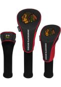 Chicago Blackhawks 3 Pack Golf Headcover