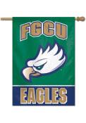 Florida Gulf Coast Eagles Typeset 28x40 Banner
