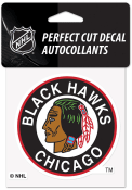 Chicago Blackhawks Reverse Retro Logo Auto Decal - Black