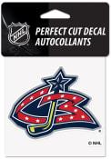 Columbus Blue Jackets Reverse Retro Logo Auto Decal - Blue