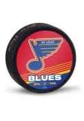 St Louis Blues Reverse Retro Logo Hockey Puck