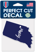 Indiana 4X4 State Shape Auto Decal - Blue