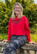 Cincinnati Womens Coopeer Hippie Font Crew Sweatshirt - Red