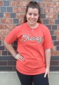 Chicago Womens Rally Cheetah T-Shirt - Red